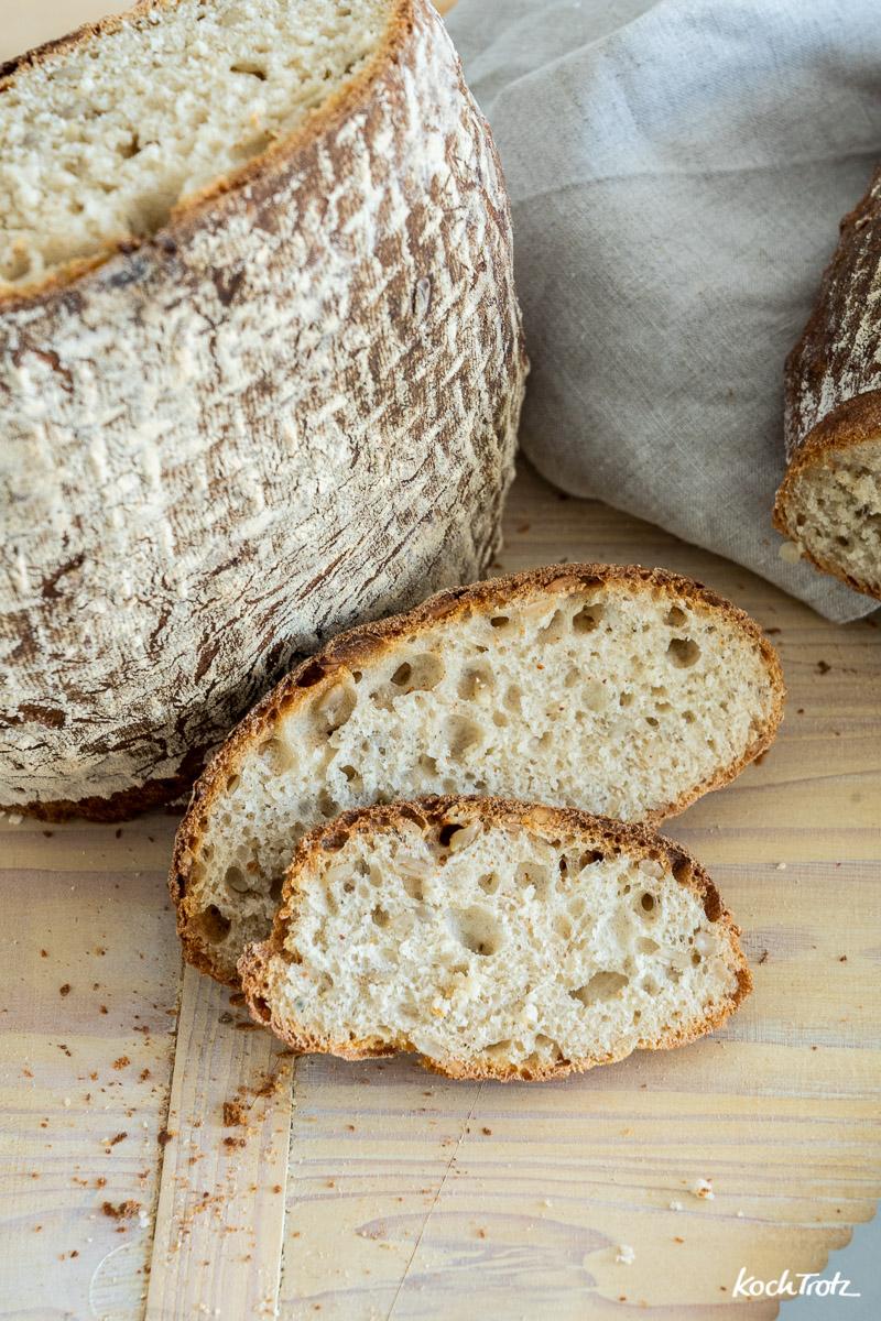 Milchkefir-Brot | Brotrezept mit hausgemachtem Milchkefir anstatt Hefe oder Sauerteig