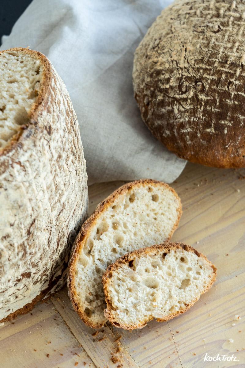 Grundrezept für ein Brot mit Milchkefir als alleiniges Triebmittel