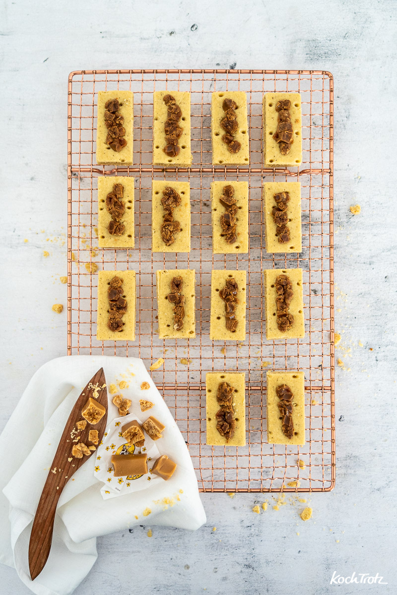Rezept Toffee-Shortbread glutenfrei optional vegan