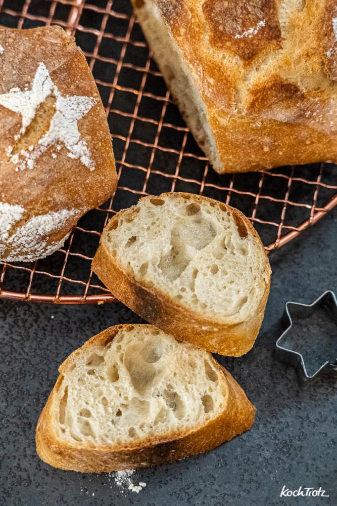 Anleitung für einen Brotstern mit Dinkel, Weizen oder glutenfrei