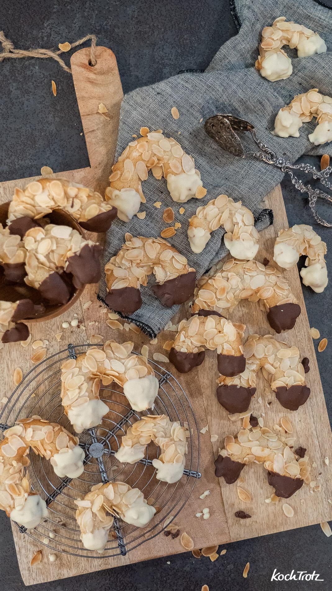 Klassische Mandelhörnchen ohne Mehl: wahlweise vegan, histaminarm und fructosearm