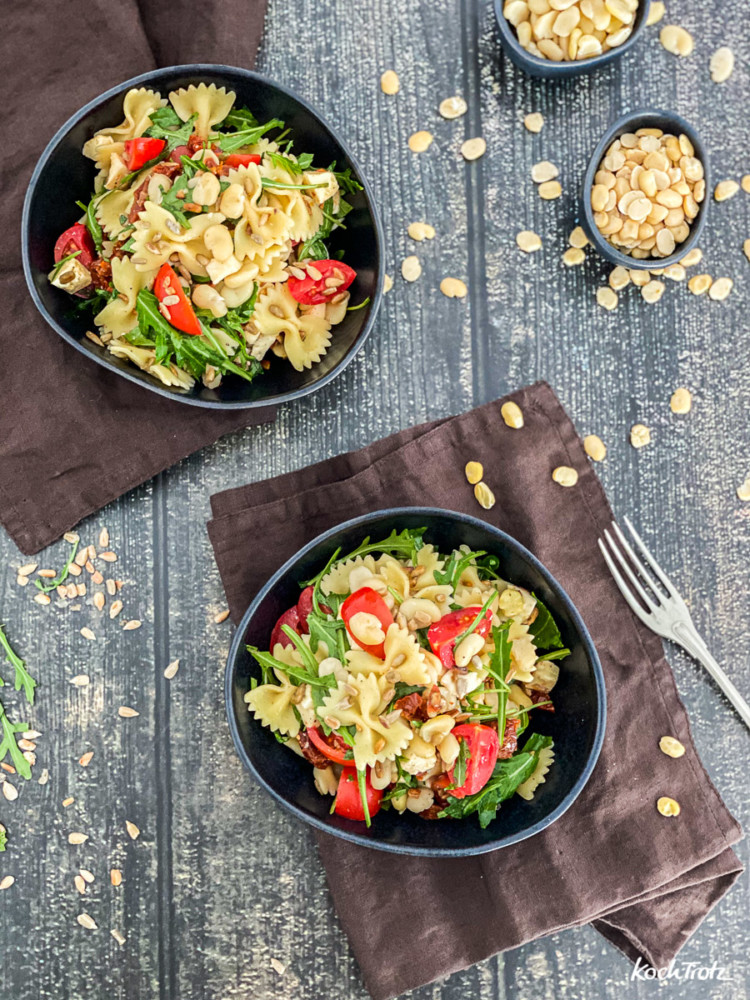 Rezept Crossover Nudelsalat mit Proteinkick Ackerbohne