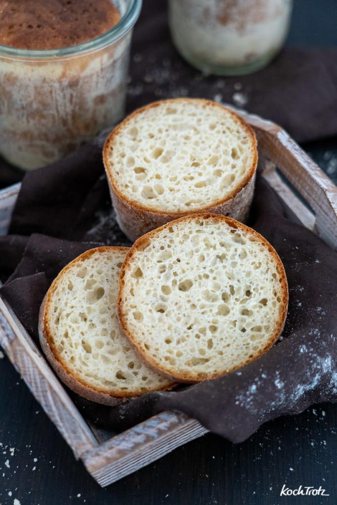 Brot im Glas backen. Geht auch mit geschlossenem Deckel.