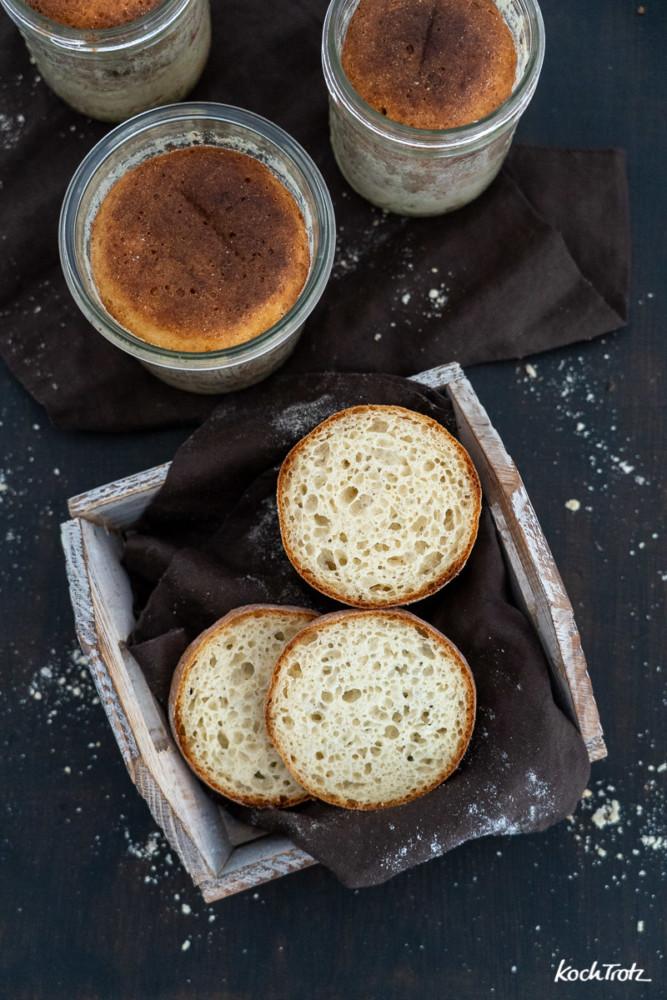 Schritt-für-Schritt-Anleitung Brot und Kuchen im Glas. Hält monatelang