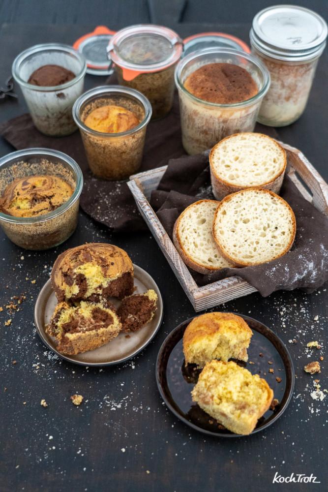 Kuchen und Brot im Glas backen, lange Haltbarkeint, auch glutenfrei