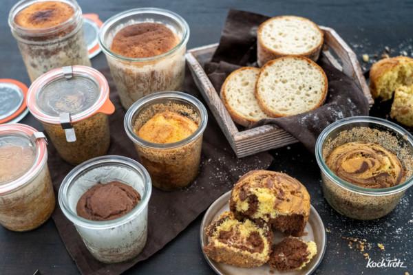 Schritt-für-Schritt-Anleitung: Brot und Kuchen im Glas backen + haltbar machen
