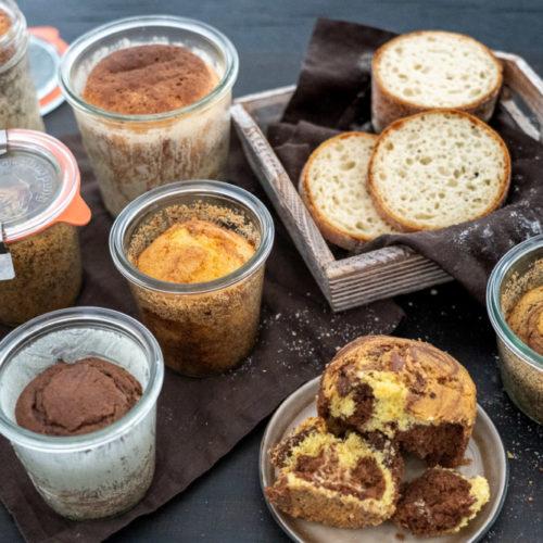 Brot und Kuchen im Glas backen und richtig einkochen. Haltbarkeit 6 Monate und länger.