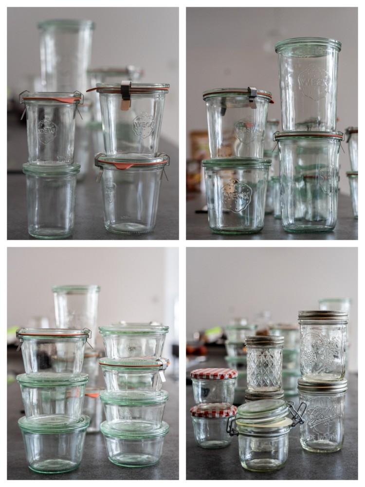 Brot und Kuchen im Glas backen. Diese Gläser eignen sich.