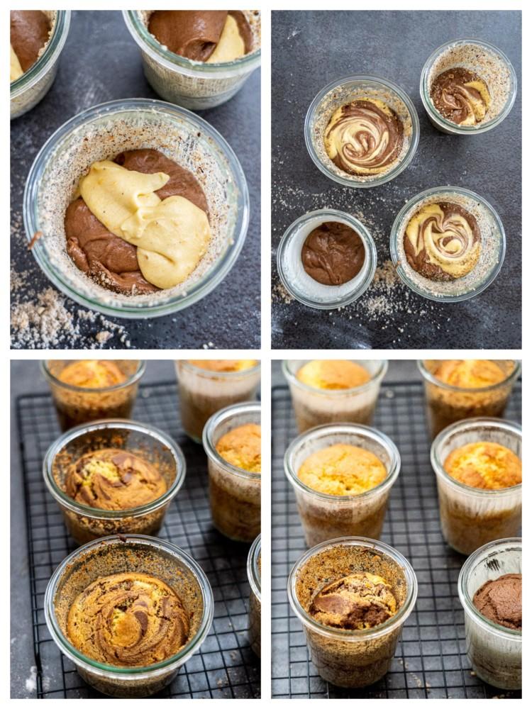 Schritt-für-Schritt-Anleitung. Kuchen im Glas backen und haltbar machen.
