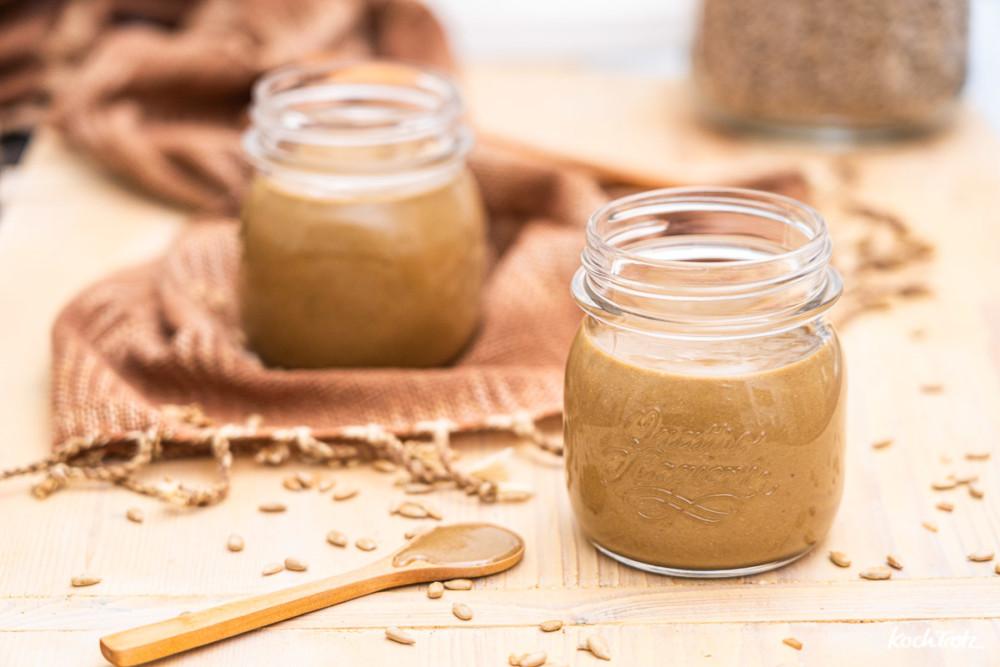 Rezept Erdnussbutter ohne Erdnüsse | Sonnenblumenkernmus