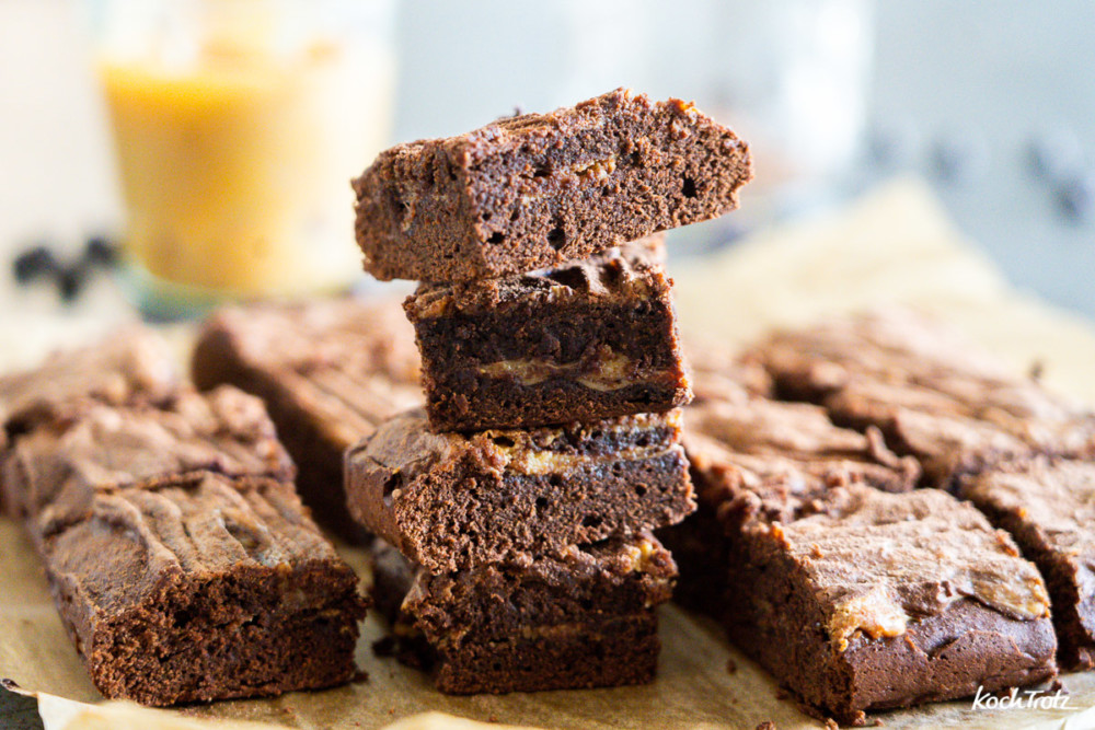 Karamell-Brownies sehr variables Rezept auch glutenfrei