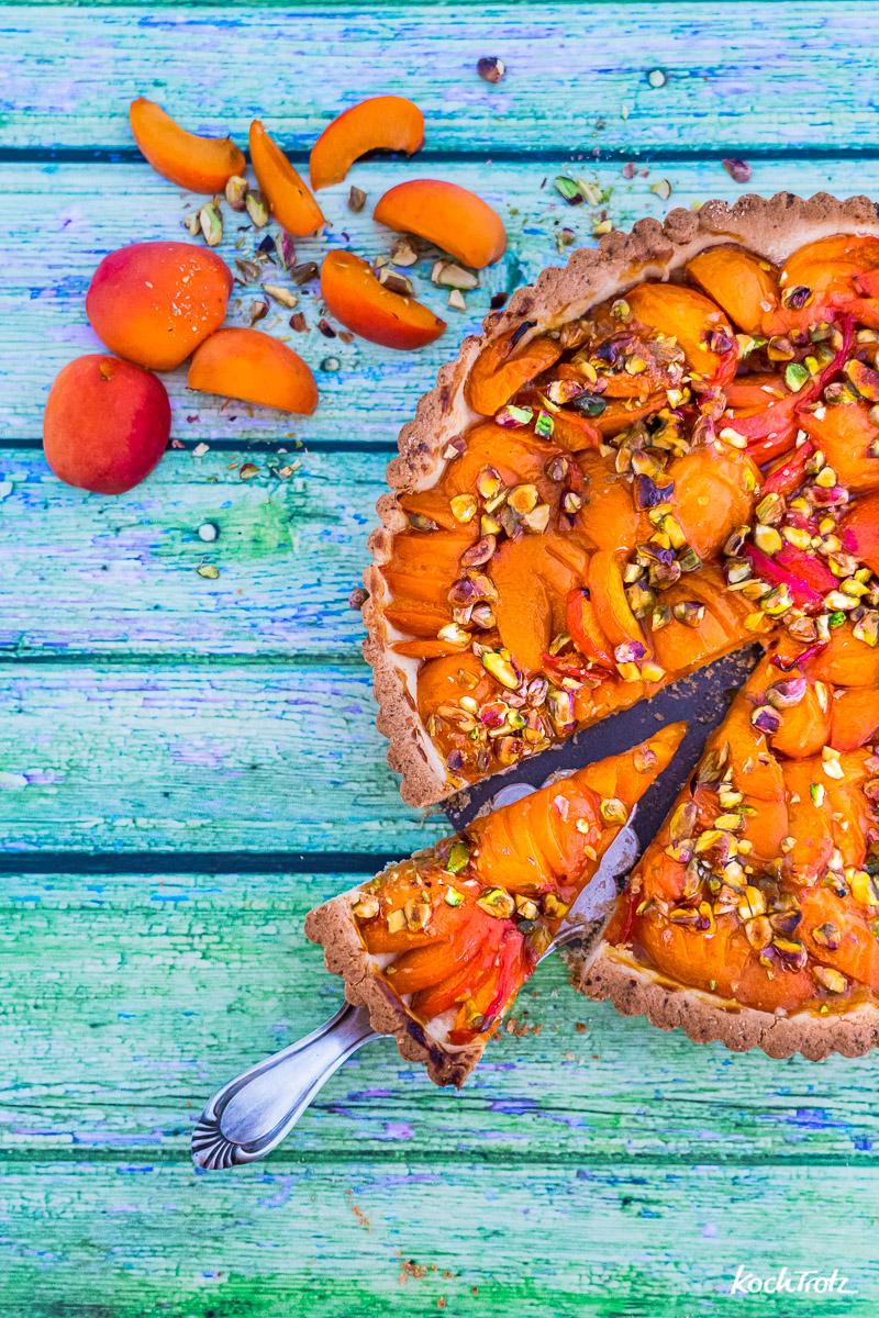 Rezept einfache Aprikosentarte, wahlweise glutenfrei