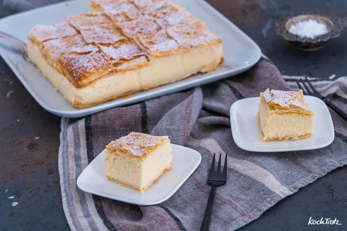 Rezept Krempita, serbische Cremeschnitte auch glutenfrei und la