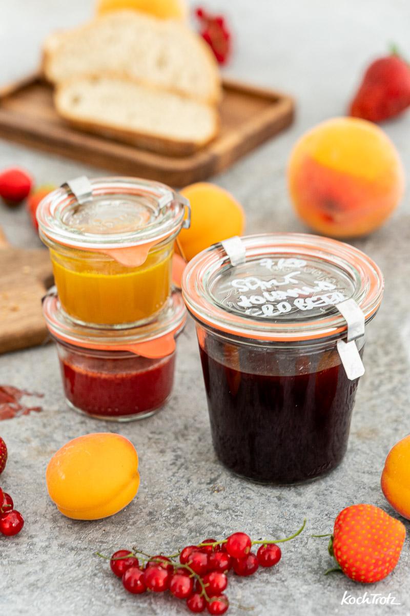 Einfaches, schnelles Rezept für Samt-Marmelade selber machen mit 2 Zutaten