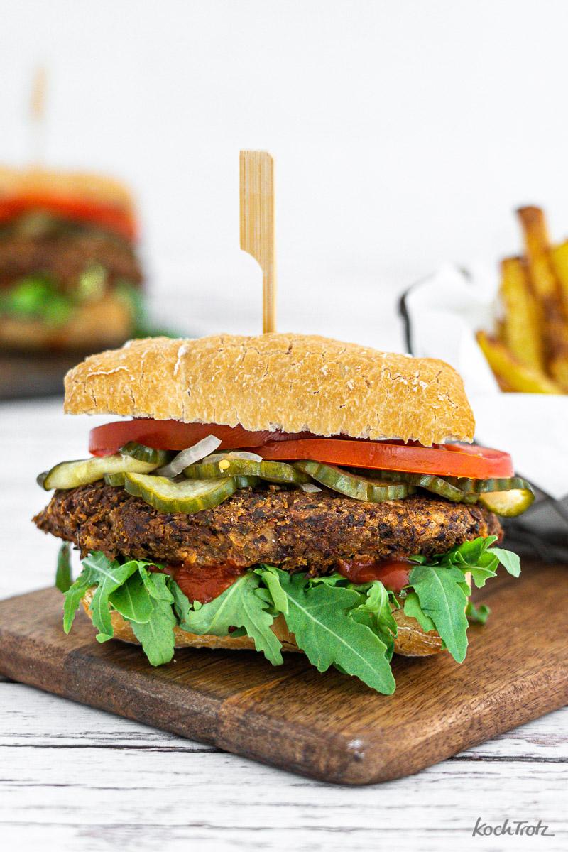 Champignon Burger glutenfrei, laktosefrei, vegetarisch
