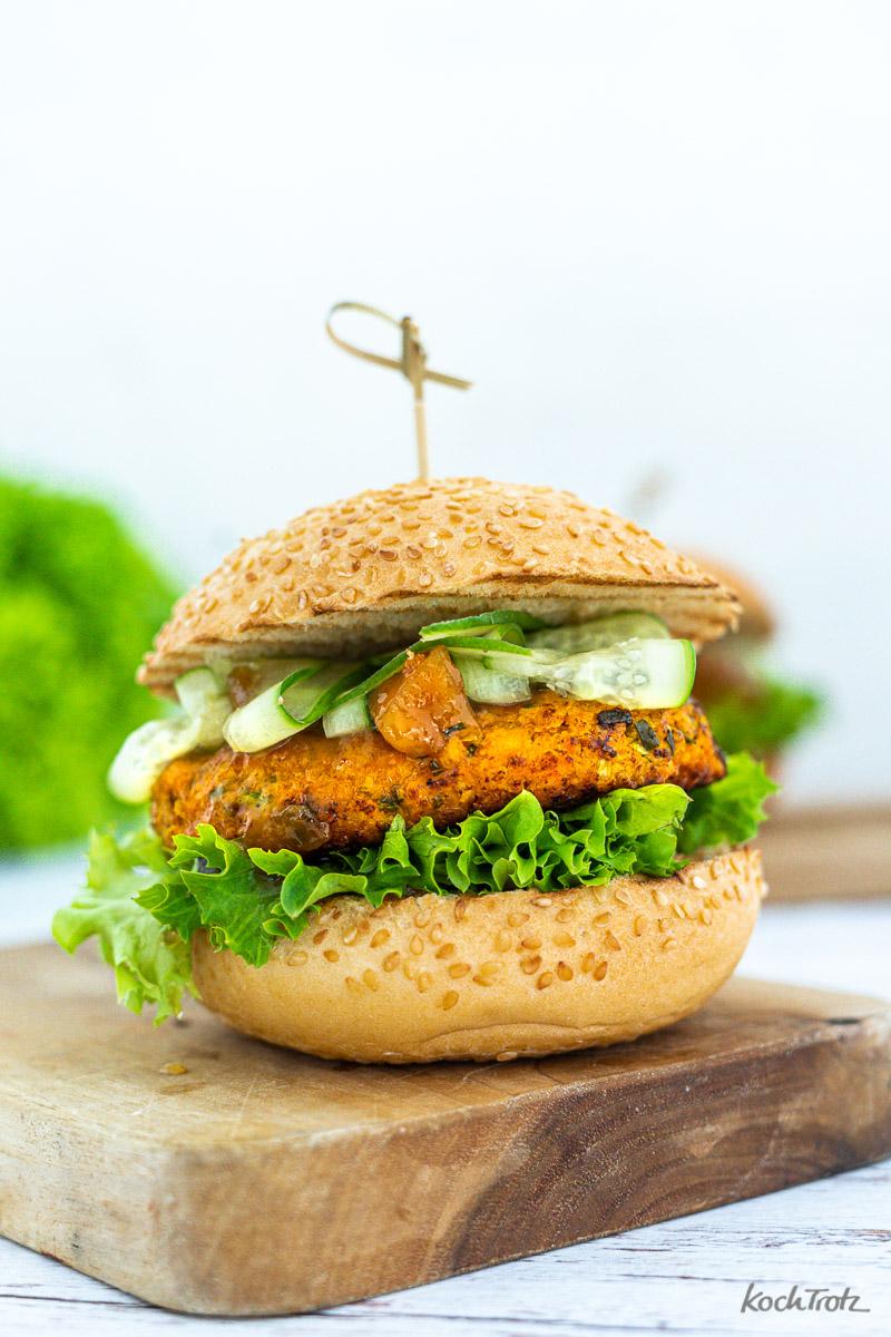 Haferfocken-Gemüse Burger glutenfrei, laktosefrei, vegetarisch