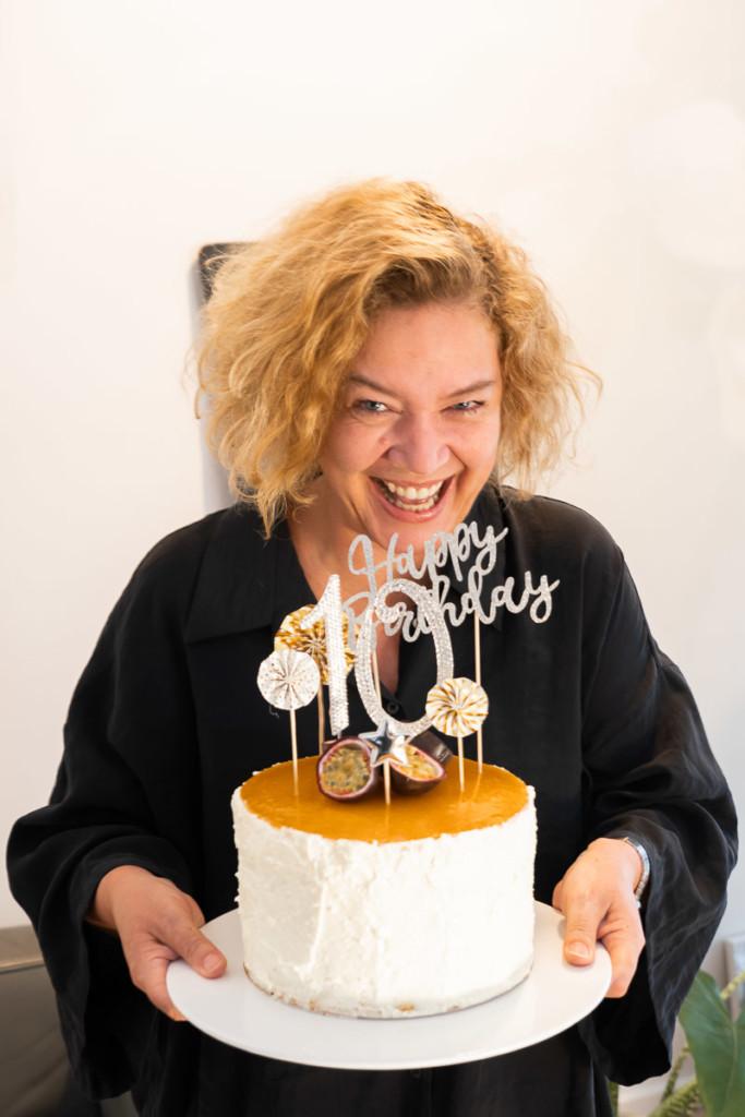 KochTrotz 10 Jahre, Geburtstagstorte, Solerotorte