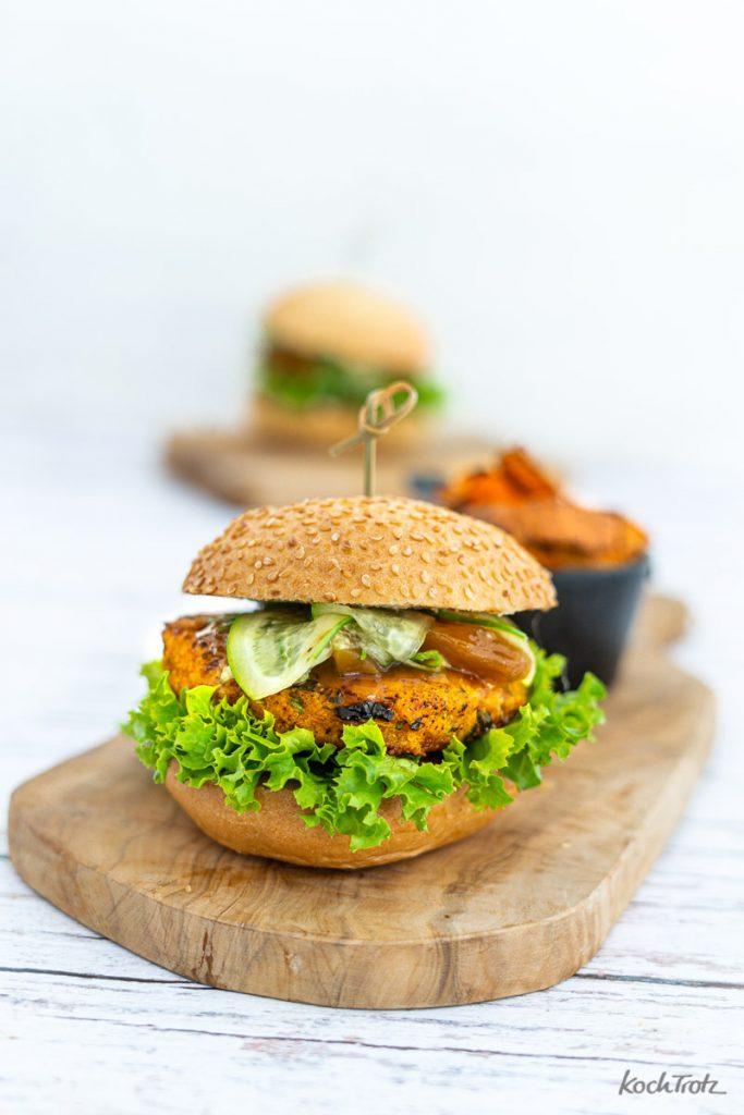 Rezept Haferflocken-Gemüse Burger glutenfrei, laktosefrei, vegetarisch