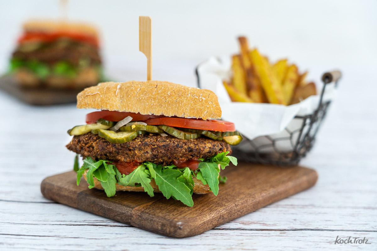 Rezept Champignon Burger glutenfrei laktosefrei vegan