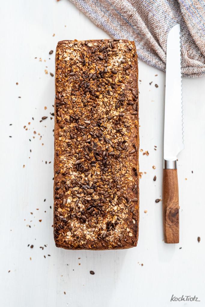 Rezept Vollkornkasten glutenfrei Sauerteigbrot