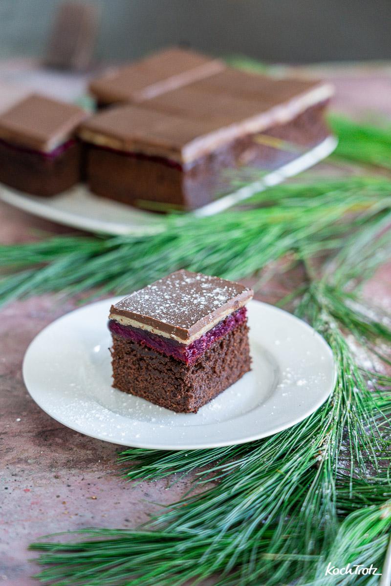 Rezept Dominostein-Kuchenschnitten wahlweise glutefrei, laktosefrei