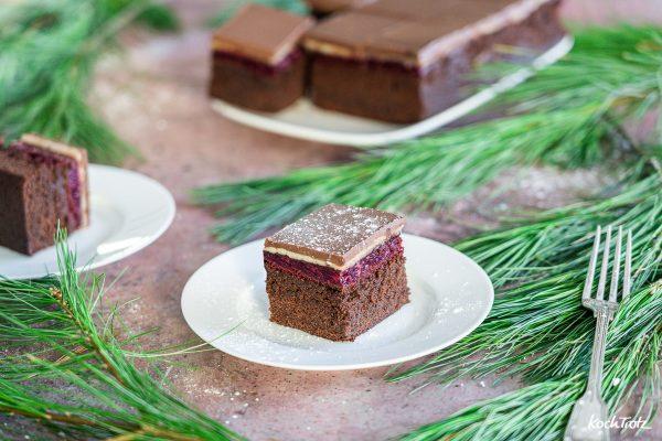 Dominostein-Kuchenschnitten wahlweise glutenfrei, laktosefrei, vegan
