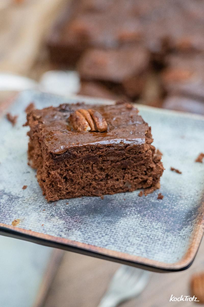 Rezept Lebkuchen vom Blech, sehr einfach und sehr schnell, wahlweise glutenfrei und vegan