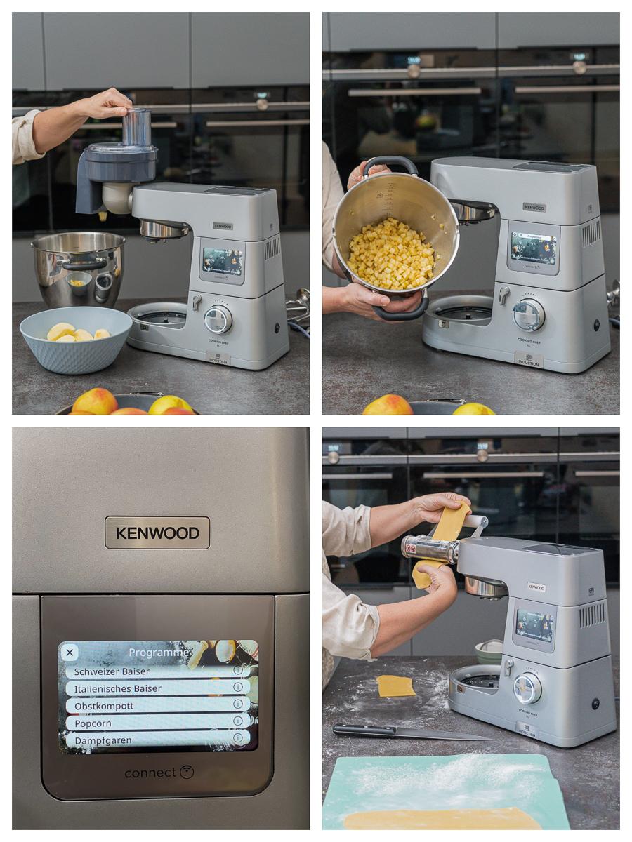 Kenwood Cooking Chef Programm Obstkompott Zubehör Würfelschneider