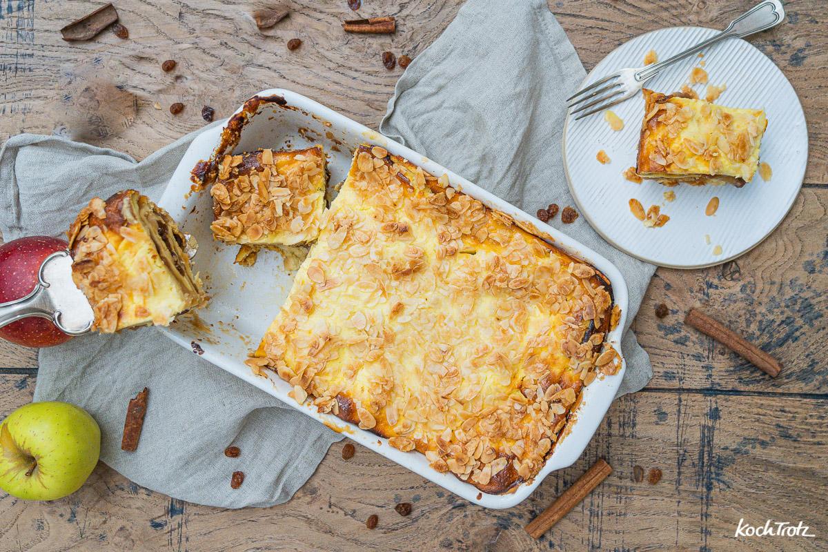 Apfel-Lasagne wahlweise glutenfrei + laktosefrei