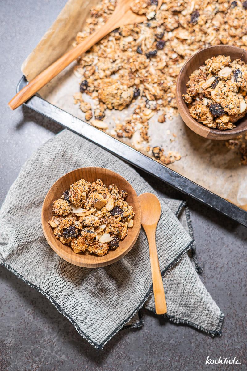 Das einfachste Granola der Welt, wahlweise glutenfrei, fructosearm, histaminarm, vegan