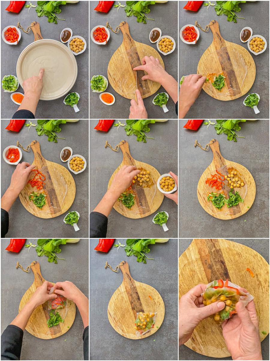 Reispapier Tiktock Tortilla Wrap Hack Rezept Asia Style