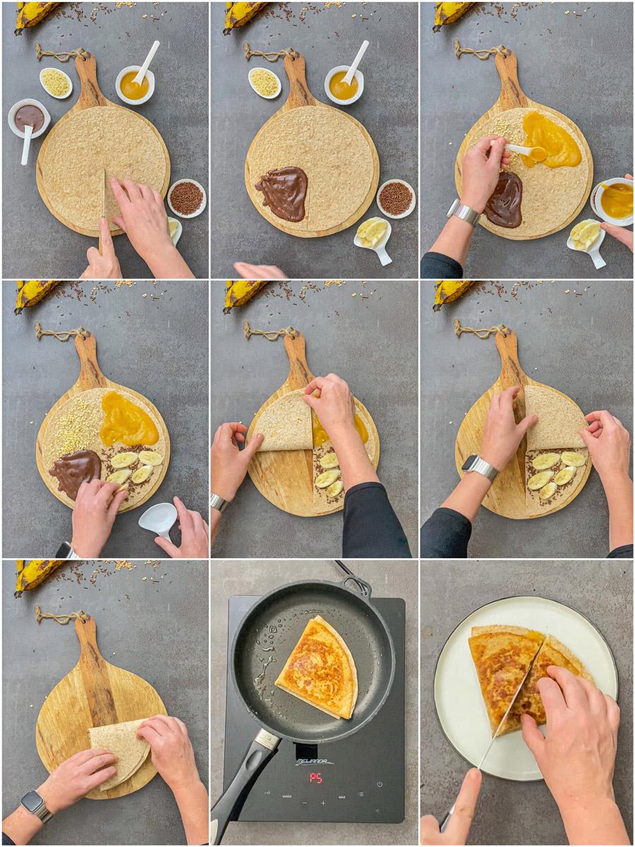 süßes Rezept Banane Tortilla Wrap von Tiktok Food Trend