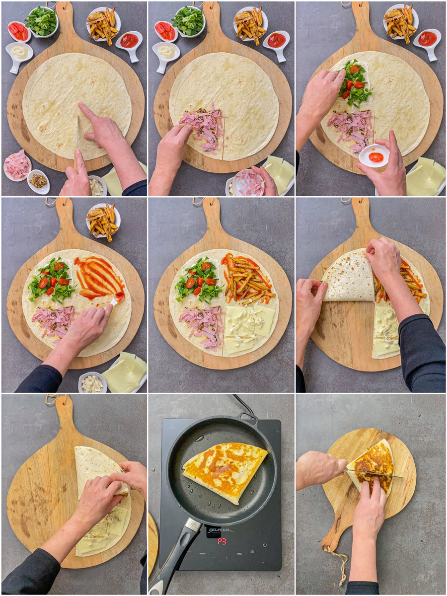Rezept Resteverwertung TickTock Tortilla Wrap Hack