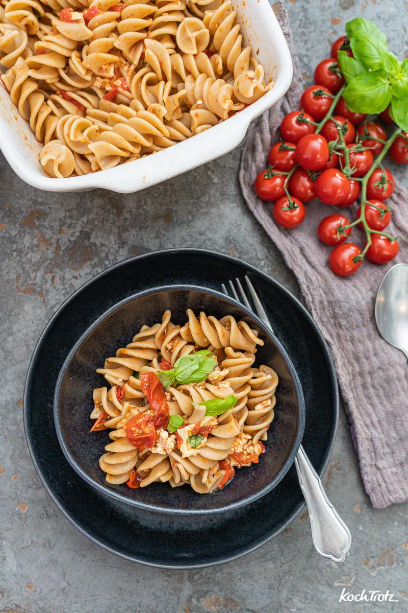 Baked Feta Pasta - einfach, lecker und schnell Rezept