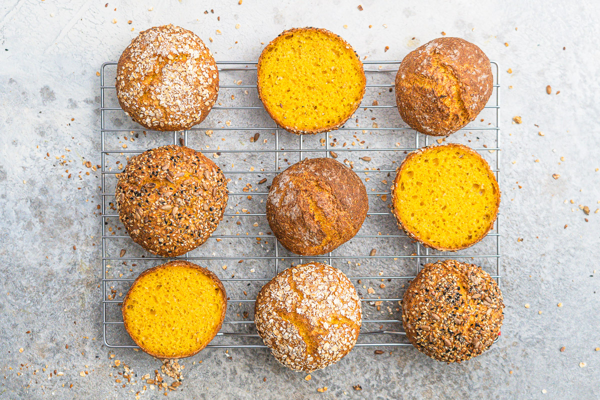 Rezept einfache Karottenbröchten wahlweise glutenfrei
