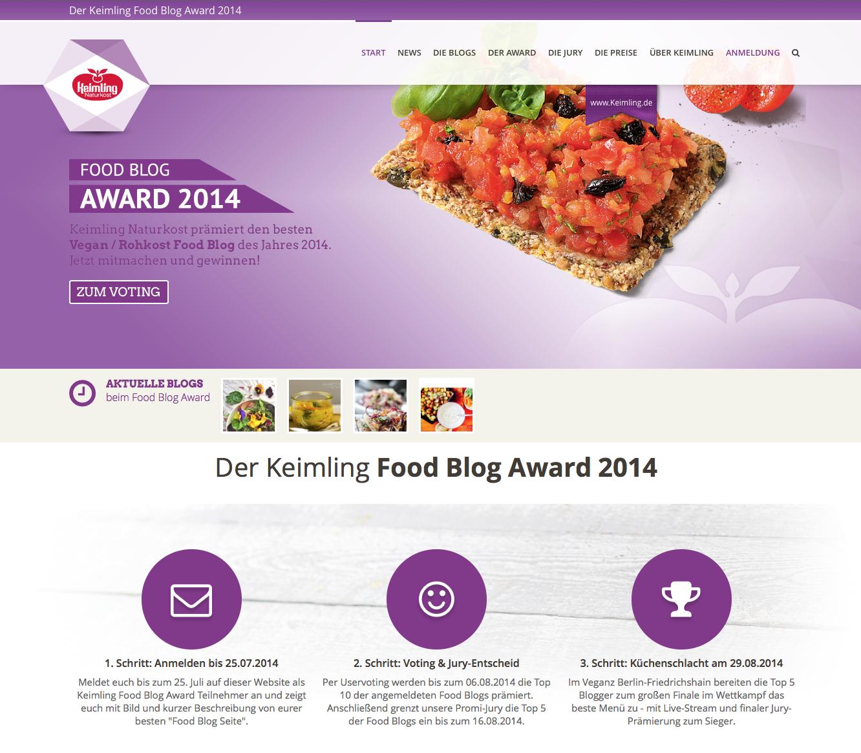 Keimling Food Blog Award