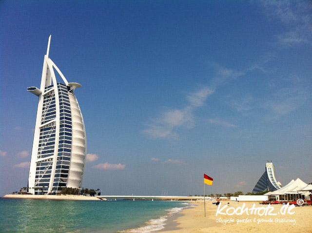 Aussicht vom Strand des Hotels Min A'Salam