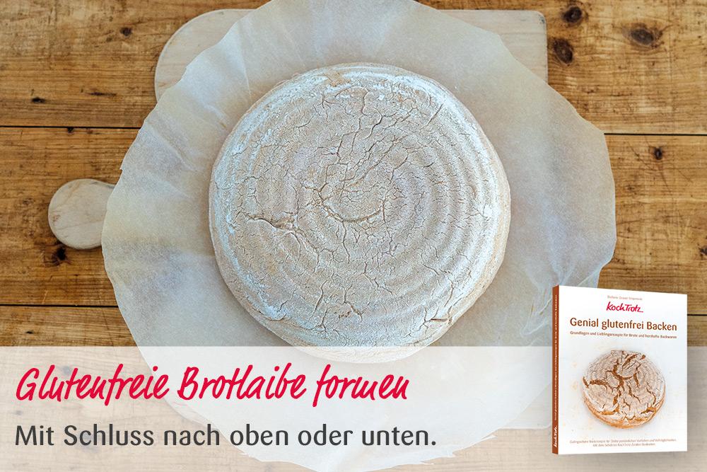 "KochTrotz Backbuch ""Genial glutenfrei Backen""   Video   Glutenfreie Brotlaibe formen"