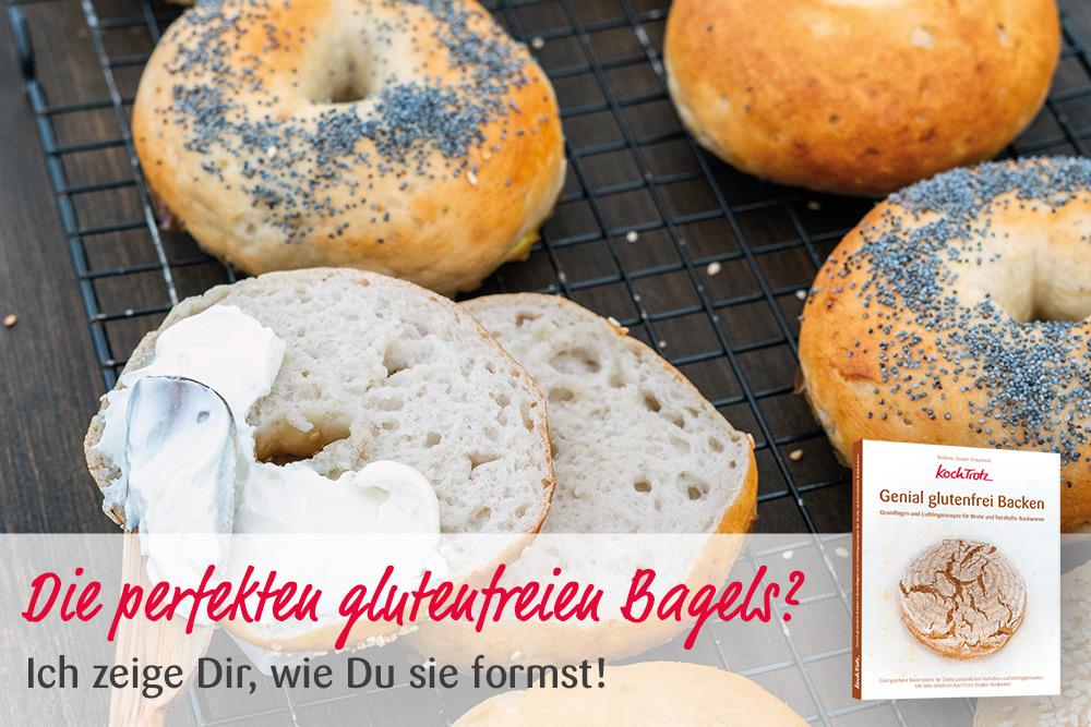"KochTrotz Backbuch ""Genial glutenfrei Backen"" | Video | Glutenfreie Bagesl formen"