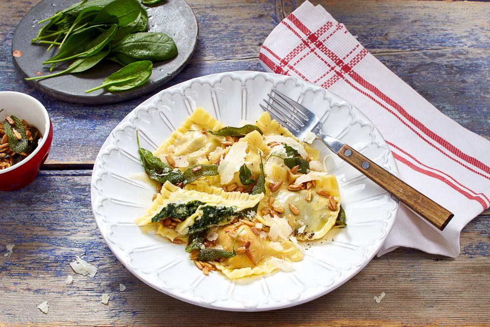 selbstgemachte Ravioli mit Spinat-Käse-Füllung | gllutenfrei | laktosefrei