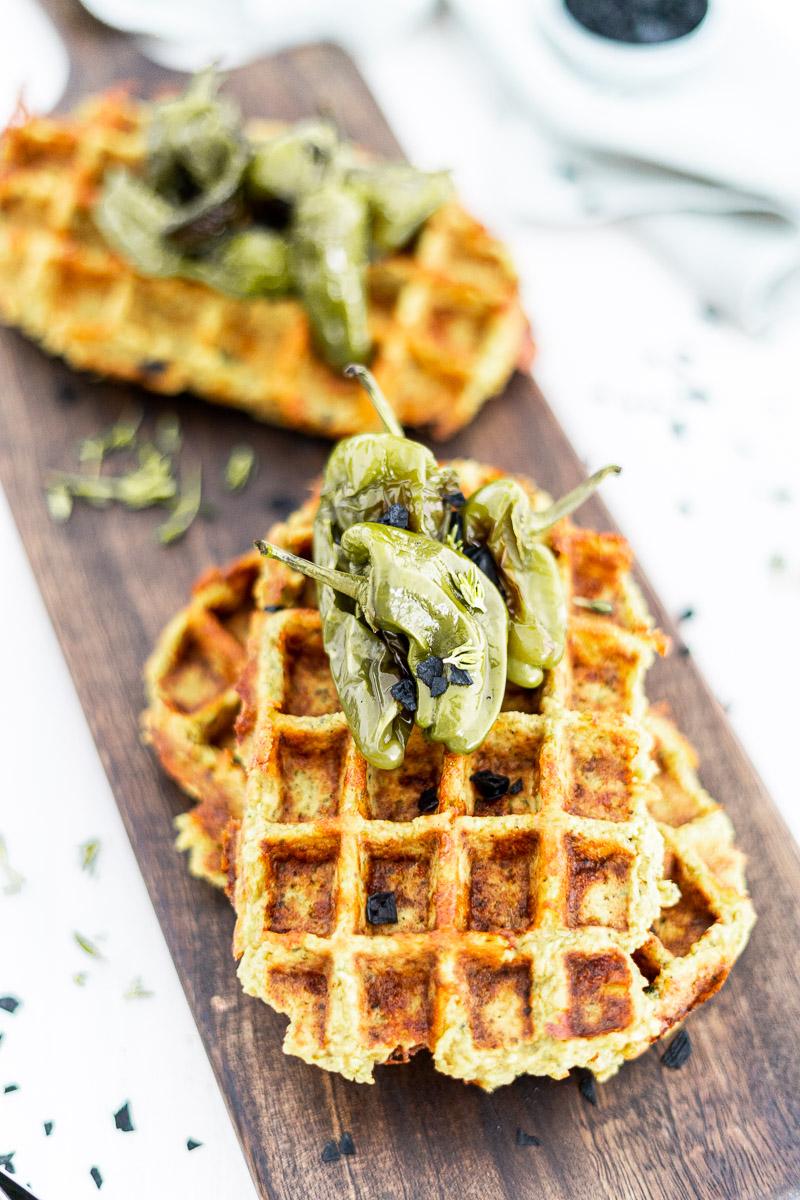 Brokkoli-Waffeln mit Käse   gesunde Gemüsewaffeln   opional glutenfrei