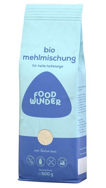 foodwunder Bio Mehlmischung für helle Hefeteige