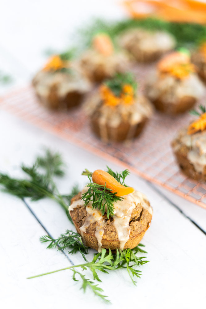 Karottenmuffins mit Kochbananenmehl   glutenfrei