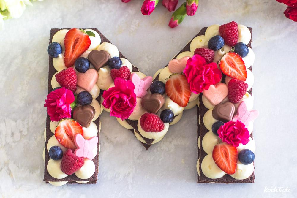Muttertagstorte | Letter Cake ohne backen | glutenfrei
