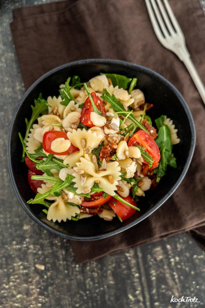 Rezept Nudelsalat mit Proteinkick Ackerbohne