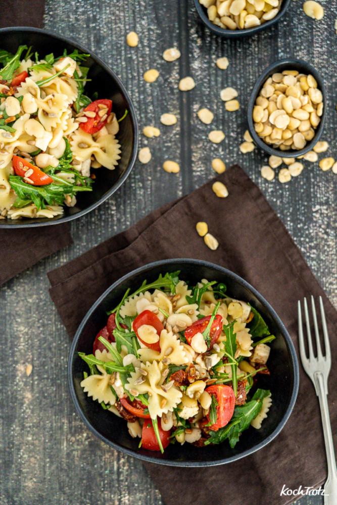 Crossover Nudelsalat mit Proteinkick Rezept mit Ackerbohnen