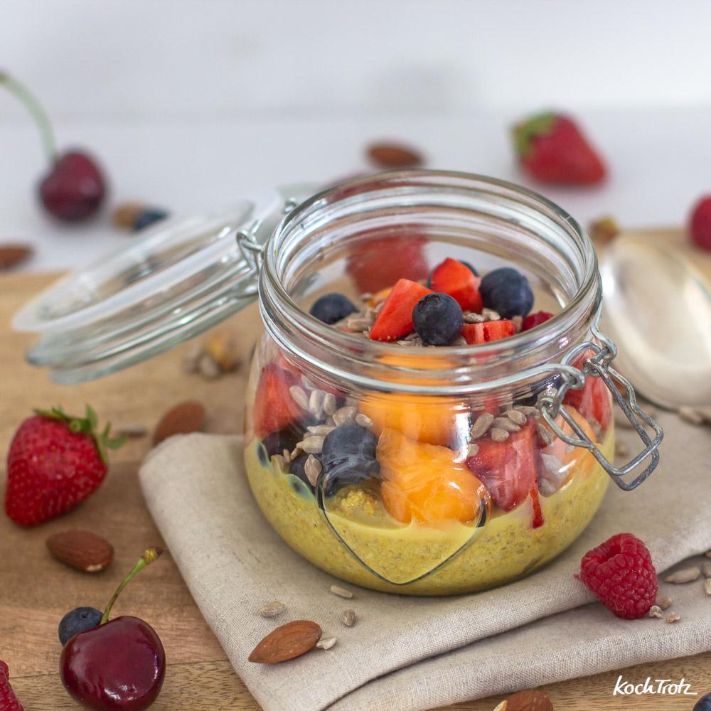 Porridge Variationen mit Golden Milk | klassisch | overnigt | togo