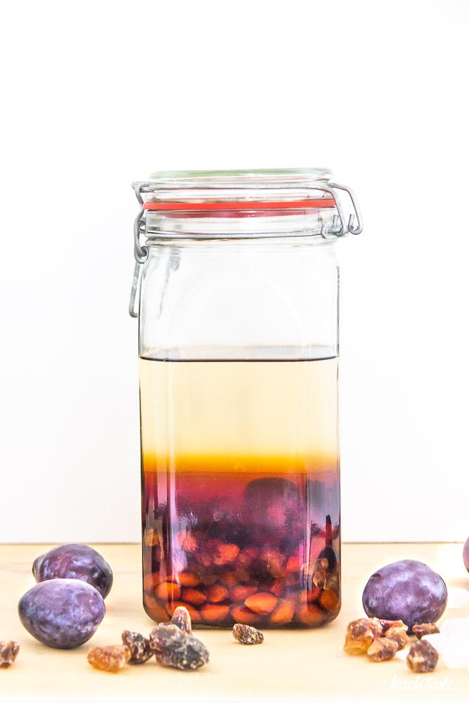 Amaretto selbstgemacht aus Zwetschgenkernen | klappt auch mit Pflaumen-, Mirabellen, Reneclauden, Aprikosen- und Kirschkernen