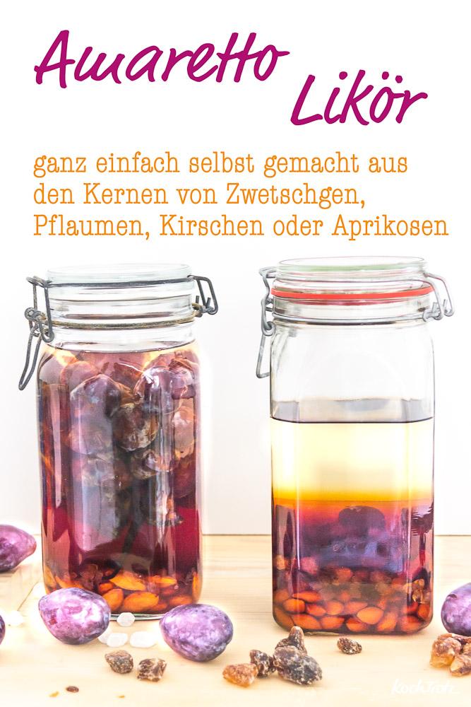 Amaretto Likör selbstgemacht aus Zwetschgenkernen | klappt auch mit Pflaumen-, Mirabellen, Reneclauden, Aprikosen- und Kirschkernen