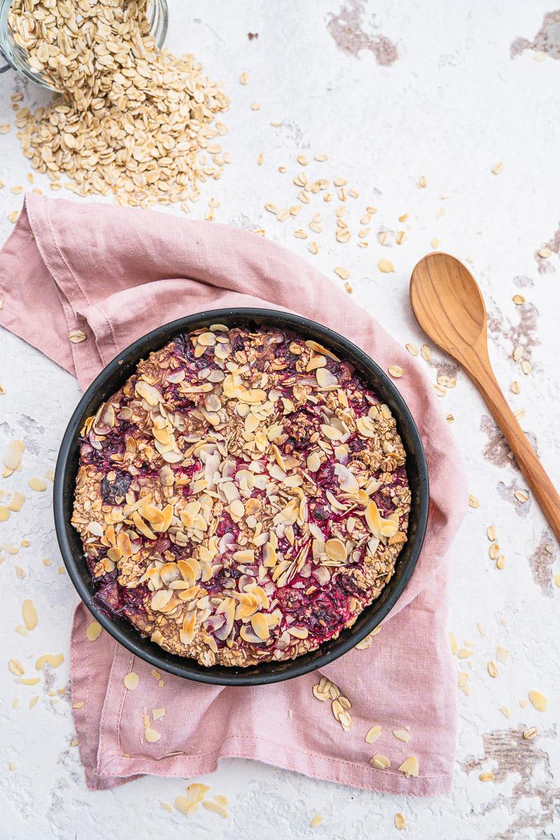 Rezept Baked Oats Airfryer wahlweise glutenfrei und vegan